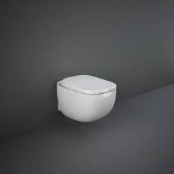 Rak Ceramics Illusion Zestaw Miska WC Podwieszana Rimless 52 cm Biały Połysk + Deska WC (ILLU1SET)