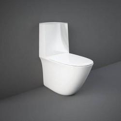 Rak Ceramics Sensation Zestaw Kompakt: Miska WC Rimless Do Kompaktu 62cm + Zbiornik Do Kompaktu + Deska WC (SENS3SET)