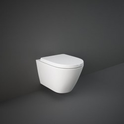 Rak Ceramics Resort Zestaw Miska WC Podwieszana 52 cm Rimless + Deska WC Slim Biały Połysk (RESO1SET)