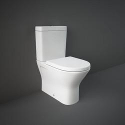 Rak Ceramics Resort Zestaw Miska WC 60 cm Rimless + Zbiornik + Deska WC Slim Biały Połysk (RESO3SET)