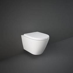 Rak Ceramics Resort Zestaw Miska WC Podwieszana 52 cm Rimless + Deska WC Biały Połysk (RESO5SET)