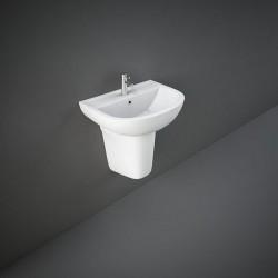 Rak Ceramics Compact Umywalka Podwieszana 45x36 cm Z Otworem Biały Połysk (COWB00002)