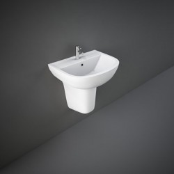 Rak Ceramics Compact Umywalka Podwieszana 55x41 cm Z Otworem Biały Połysk (COWB00004)