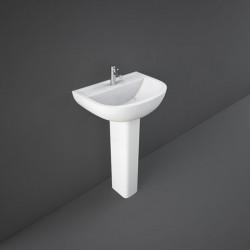 Rak Ceramics Compact Umywalka Podwieszana 50x38 cm Z Otworem Biały Połysk (COWB00003)