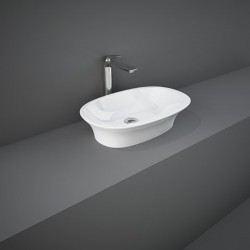Rak Ceramics Sensation Umywalka Nablatowa Owalna 60x38 cm Biały Połysk (SENCT6000AWHA)