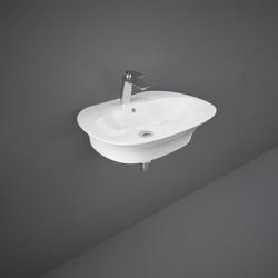 Rak Ceramics Sensation Umywalka Wisząca Owalna 65x46 cm Biały Połysk
