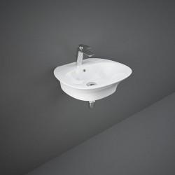 Rak Ceramics Sensation Umywalka Wisząca Owalna 55x46 cm Biały Połysk (SENWB5501AWHA)