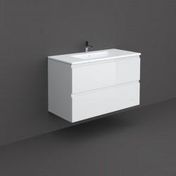 Rak Ceramics Joy Zestaw Umywalka & Szafka Podumywalkowa Podwieszana 100 cm Biały (SETJOYWH100PWH)