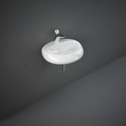 Rak Ceramics Cloud Umywalka Podwieszana i Nablatowa Owalna 55x42 cm Z Otworem Biały Połysk (CLOWB5501AWHA)