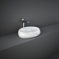 Rak Ceramics Cloud Umywalka Nablatowa Owalna 58x40 cm Biały Połysk (CLOCT6000AWHA)