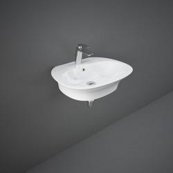 Rak Ceramics Sensation Umywalka Podwieszana i Nabaltowa Owalna 60x46 cm Biały Połysk (SENWB6001AWHA)