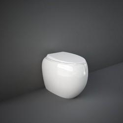 Rak Ceramics Cloud Miska WC Stojąca Rimless 56x40 cm + Deska WC Biały Połysk (CLOWC1346AWHA+CLOSC3901WH)
