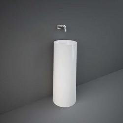 Rak Ceramics Petit Umywalka Wolnostojąca Okrągła 36x36 cm Biały Połysk (PETFS13600AWHA)