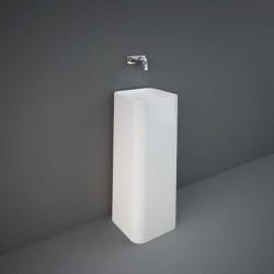 Rak Ceramics Petit Umywalka Wolnostojąca Kwadratowa 36x36 cm Biały Połysk (PETFS23600AWHA)