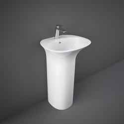 Rak Ceramics Sensation Umywalka Wolnostojąca 55x46 Cm Z Otworem Biały Połysk (SENFS5501AWHA)