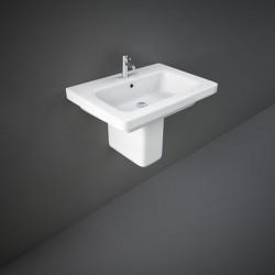 Rak Ceramics Resort Umywalka Podwieszana Prostokątna 55x46 cm Z Otworem Biały Połysk (REWB00002)