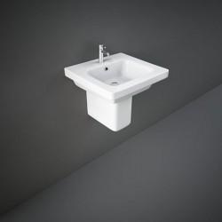 Rak Ceramics Resort Umywalka Podwieszana Prostokątna 50x46 cm Z Otworem Biały Połysk (REWB00001)