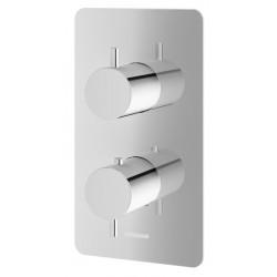 Kohlman Axel Chrom Bateria wannowa termostatyczna podtynkowa 2 wyjścia (QW432A)