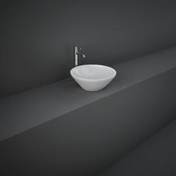 Rak Ceramics Variant Umywalka Nablatowa Okrągła 36x36 cm Biały Połysk (VARCT13600AWHA)