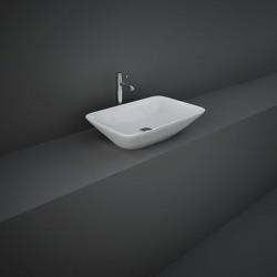 Rak Ceramics Variant Umywalka Nablatowa Prostokątna 55x36 cm Biały Połysk (VARCT55500AWHA)
