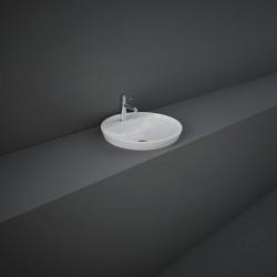 Rak Ceramics Variant Umywalka Wpuszczana Okrągła 42x42 cm Z Otworem Biały Połysk (VARDI14201AWHA)