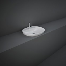 Rak Ceramics Variant Umywalka Wpuszczana Owalna 50x42 cm Z Otworem Biały Połysk (VARDI25001AWHA)