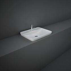 Rak Ceramics Variant Umywalka Wpuszczana Prostokątna 55x42 cm Z Otworem Biały Połysk (VARDI55501AWHA)