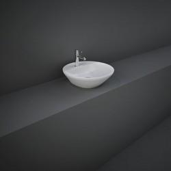 ak Ceramics Variant Umywalka Nablatowa Okrągła 42x42 cm Z Otworem Biały Połysk (VARCT14201AWHA)
