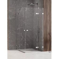 New Trendy Avexa Kabina Prysznicowa Narożna Prostokątna Drzwi Podwójne 110x100 cm Szkło Przezroczyste 6 mm (EXK-1532)