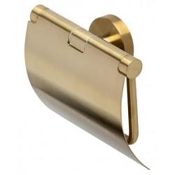 Geesa Nemox Gold Uchwyt Na Papier Toaletowy Z Pokrywą Złoty 916508-07