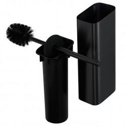 Geesa Shift Brushed Black Szczotka do WC i uchwyt Szczotkowana Czerń 919911-09-06