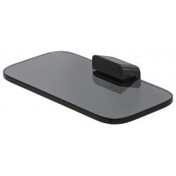 Geesa Shift Brushed Black Półka łazienkowa / Mydelniczka Szczotkowana Czerń 919903-09-66