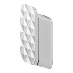 Geesa Shift Chrom Wieszak na ręcznik średni z diamentowym wzorem Chrom 919967-02-91