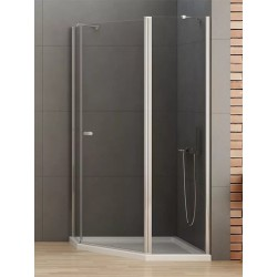 New Trendy New Soleo Kabina Prysznicowa Pięciokątna Asymetryczna Drzwi Uchylne Pojedyncze 100x80 cm (K-0608)