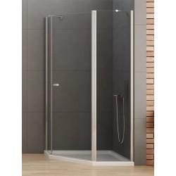 New Trendy New Soleo Kabina Prysznicowa Pięciokątna Asymetryczna Drzwi Uchylne Pojedyncze 100x80 cm (K-0739)