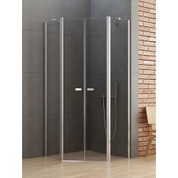 New Trendy New Soleo Kabina Prysznicowa Pięciokątna Drzwi Uchylne Podwójne 80x80 cm (K-0609)