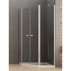 New Trendy New Soleo Kabina Prysznicowa Pięciokątna Asymetryczna Drzwi Uchylne Podwójne 100x80 cm (K-0611)