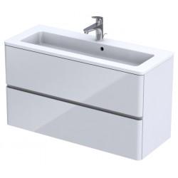 Oristo Anna 100 cm Biały Połysk Szafka z umywalką Annabelle Podwójna (OR40-SD2S-100-1+UME-AN-100-92-V2)