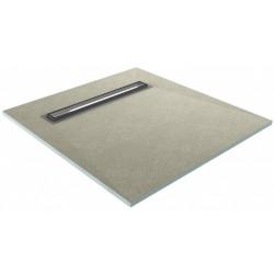 Wiper Showerlay 80x80 cm Podposadzkowa płyta prysznicowa z rynienką
