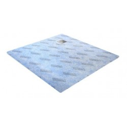 Wiper Showerbase 80x80 cm Podposadzkowa płyta prysznicowa z odpływem punktowym