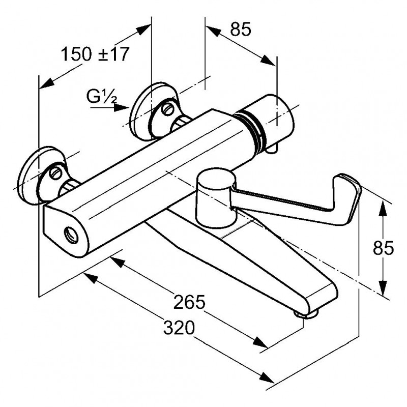 kludi bateria wannowa z termostatem medi care 350850564 promocja. Black Bedroom Furniture Sets. Home Design Ideas