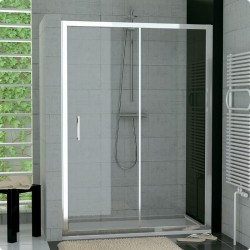 SanSwiss Top-Line Drzwi Prysznicowe TOPS2 NA WYMIAR (120 - 180cm) Pas Satynowy Poziomy TOPS2SM15051