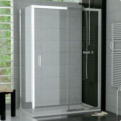 SanSwiss Top-Line Kabina TOPS2 NA WYMIAR Drzwi(120-180cm) Ścianka(80-120cm) Szkło Przezroczyste TOPS2SM15007+TOPFSM25007