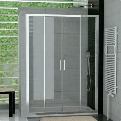SanSwiss Top-Line Drzwi Prysznicowe TOPS4 NA WYMIAR (120 - 180cm) Pas Satynowy Poziomy TOPS4SM15051