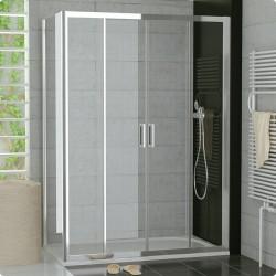 SanSwiss Top-Line Kabina TOPS4 NA WYMIAR Drzwi - (120-180cm) Ścianka - (25-80cm) Szkło Przezroczyste TOPS4SM15007+TOPFSM15007