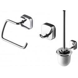 Geesa Thessa Zestaw akcesoriów: Szczotka WC, Haczyk, Wieszak na Papier Toaletowy 2400-02-120