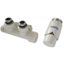 Alterna Iris Zestaw zaworów z termostatem do grzejnika Duoplex Lewa ALTN-914302 Cu