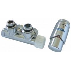 Alterna Iris Zestaw zaworów z termostatem do grzejnika Duoplex Prawa ALTN-914307 Cu