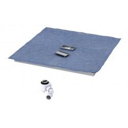 Schedpol Stabilsound Płyta spadkowa z odpływem liniowym 80x80 cm
