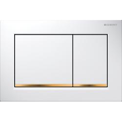 Geberit Omega30 Biały/Złoty Przycisk